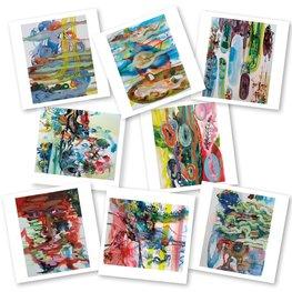 Kunst/gedichtenkaarten | Gea Zwart & Méland Langeveld